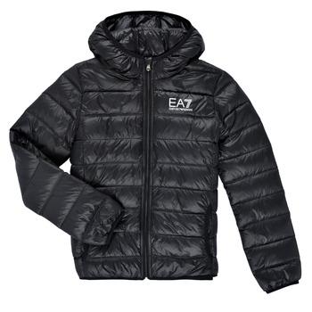 衣服 男孩 羽绒服 EA7 EMPORIO ARMANI ANISTA 黑色