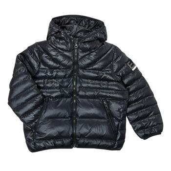 衣服 男孩 羽绒服 EA7 EMPORIO ARMANI FHALIA 黑色