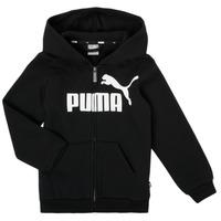 衣服 男孩 卫衣 Puma 彪马 ESSENTIAL BIG LOGO FZ HOODIE 黑色