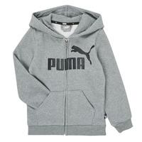 衣服 男孩 卫衣 Puma 彪马 ESSENTIAL BIG LOGO FZ HOODIE 灰色