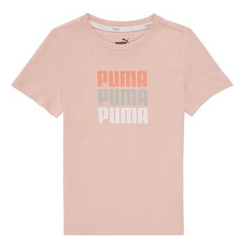 衣服 女孩 短袖体恤 Puma 彪马 ALPHA TEE 玫瑰色