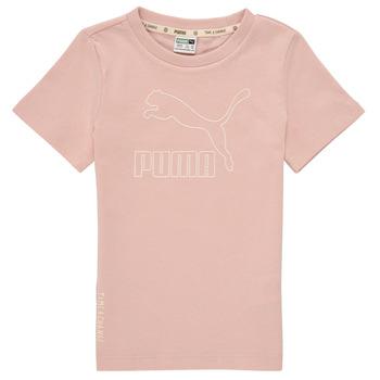 衣服 女孩 短袖体恤 Puma 彪马 T4C TEE 玫瑰色