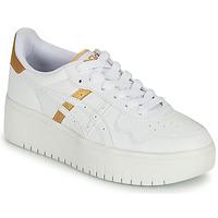 鞋子 女士 球鞋基本款 Asics 亚瑟士 JAPAN PLATFORM 白色 / 金色