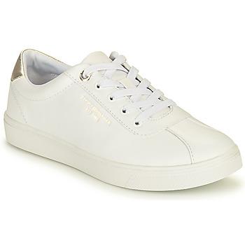鞋子 女士 球鞋基本款 Tommy Hilfiger COURT LEATHER SNEAKER 白色