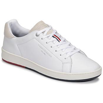 鞋子 男士 球鞋基本款 Tommy Hilfiger RETRO TENNIS CUPSOLE LEATHER 白色