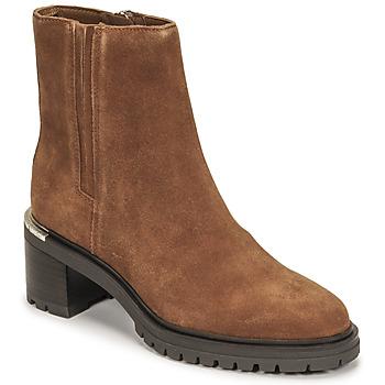 鞋子 女士 短筒靴 Tommy Hilfiger TH OUTDOOR MID HEEL BOOT 棕色