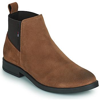 鞋子 女士 短筒靴 Tommy Jeans ESSENTIALS CHELSEA BOOT 棕色
