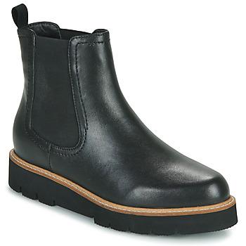 鞋子 女士 短筒靴 Ravel MOZA 黑色