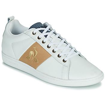 鞋子 男士 球鞋基本款 Le Coq Sportif 乐卡克 COURTCLASSIC 白色 / 茶色