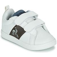 鞋子 儿童 球鞋基本款 Le Coq Sportif 乐卡克 COURTCLASSIC INF 白色 / 棕色