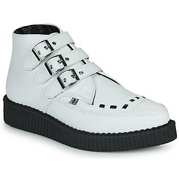 鞋子 短筒靴 TUK POINTED CREEPER 3 BUCKLE BOOT 白色