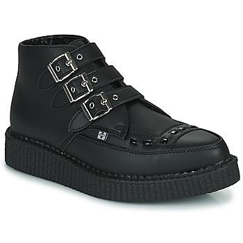 鞋子 短筒靴 TUK POINTED CREEPER 3 BUCKLE BOOT 黑色