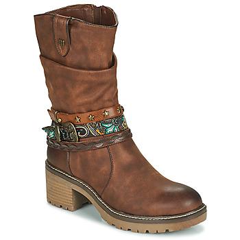 鞋子 女士 短靴 MTNG 50003-C52072 棕色
