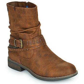 鞋子 女士 短筒靴 MTNG 51892-C52072 棕色