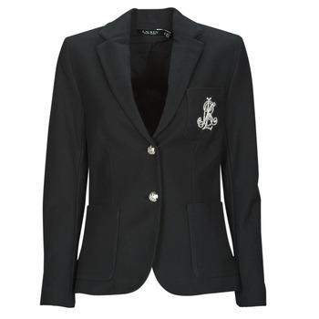 衣服 女士 外套/薄款西服 Lauren Ralph Lauren ANFISA-LINED-JACKET 黑色