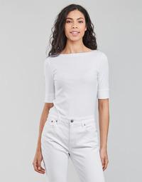 衣服 女士 长袖T恤 Lauren Ralph Lauren JUDY-ELBOW SLEEVE-KNIT 白色