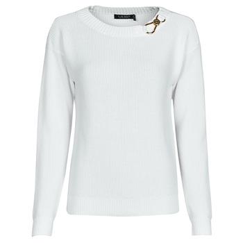 衣服 女士 羊毛衫 Lauren Ralph Lauren YAMINAH-LONG SLEEVE-SWEATER 白色