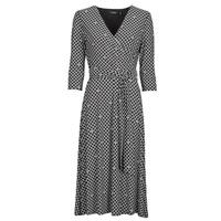 衣服 女士 长裙 Lauren Ralph Lauren CARLYNA-3/4 SLEEVE-DAY DRESS 黑色