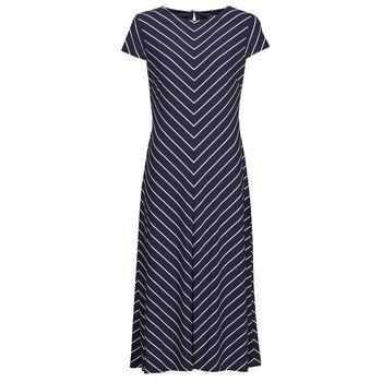 衣服 女士 长裙 Lauren Ralph Lauren PIPPA-CAP SLEEVE-DAY DRESS 蓝色
