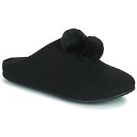 鞋子 女士 拖鞋 FitFlop CHRISSIE POM POM SLIPPERS 黑色