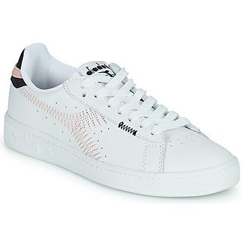 鞋子 女士 球鞋基本款 Diadora 迪亚多纳 GAME L LOW ZIG ZAG WN 白色 / 玫瑰色