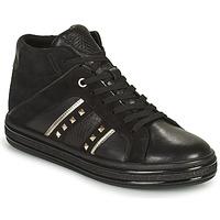 鞋子 女士 高帮鞋 Geox 健乐士 LEELU 黑色 / 银灰色