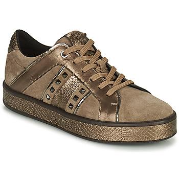 鞋子 女士 球鞋基本款 Geox 健乐士 LEELU 棕色 / 金色