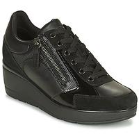 鞋子 女士 球鞋基本款 Geox 健乐士 ILDE 黑色