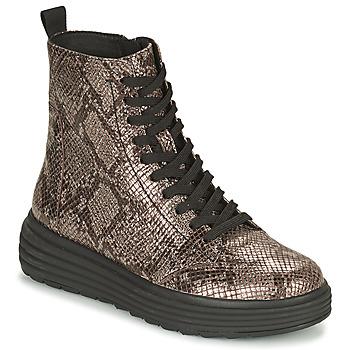 鞋子 女士 短筒靴 Geox 健乐士 PHAOLAE 棕色