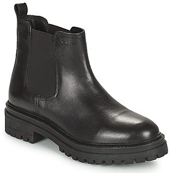 鞋子 女士 短筒靴 Geox 健乐士 IRIDEA 黑色