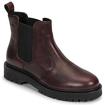 鞋子 女士 短筒靴 Geox 健乐士 BLEYZE 波尔多红