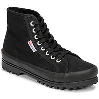 鞋子 女士 高帮鞋 Superga 2341 ALPINA COTU 黑色