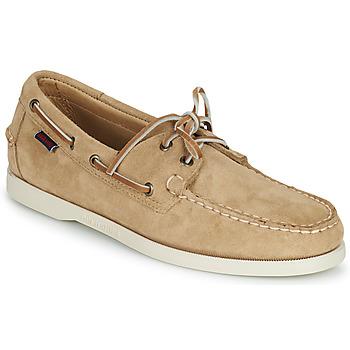 鞋子 男士 船鞋 Sebago 仕品高 PORTLAND FLESH OUT 米色