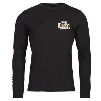 衣服 男士 长袖T恤 Diesel 迪赛尔 T-DIEGOS-LS-K27 黑色