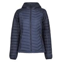 衣服 女士 羽绒服 Columbia 哥伦比亚 POWDER LITE HOODED JACKET 海蓝色 / 黑色