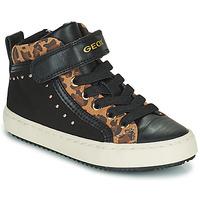 鞋子 女孩 高帮鞋 Geox 健乐士 KALISPERA 黑色 / Leopard