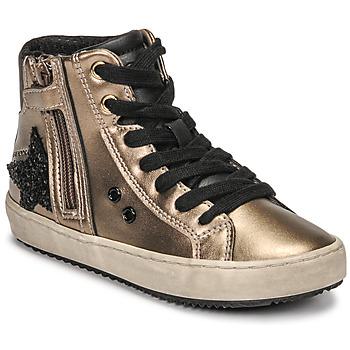 鞋子 女孩 高帮鞋 Geox 健乐士 KALISPERA 金色 / 黑色