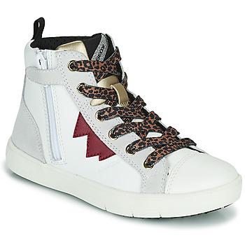 鞋子 女孩 高帮鞋 Geox 健乐士 SILENEX 白色