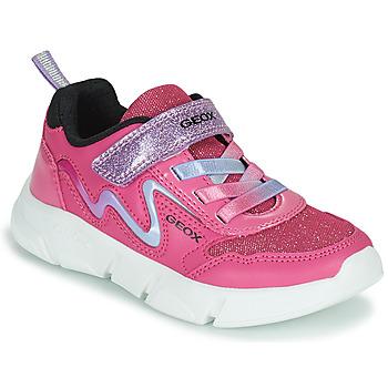 鞋子 女孩 球鞋基本款 Geox 健乐士 ARIL 玫瑰色 / 紫罗兰