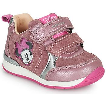 鞋子 女孩 球鞋基本款 Geox 健乐士 RISHO 玫瑰色