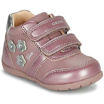 鞋子 女孩 球鞋基本款 Geox 健乐士 ELTHAN 玫瑰色