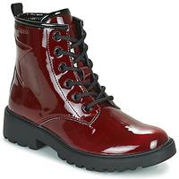 鞋子 女孩 短筒靴 Geox 健乐士 CASEY 波尔多红