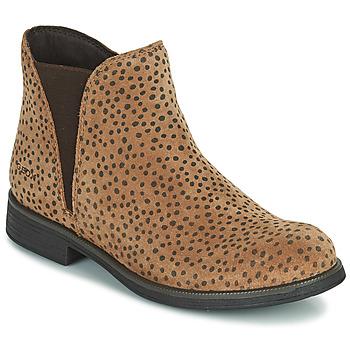 鞋子 女孩 短筒靴 Geox 健乐士 AGATO 棕色