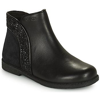 鞋子 女孩 短筒靴 Geox 健乐士 SHAWNTEL 黑色