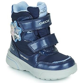 鞋子 女孩 雪地靴 Geox 健乐士 SVEGGEN ABX 海蓝色