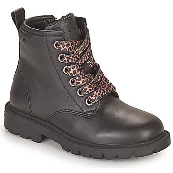 鞋子 女孩 短筒靴 Geox 健乐士 SHAYLAX 黑色