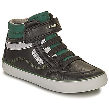 鞋子 男孩 高帮鞋 Geox 健乐士 GISL 黑色 / 绿色