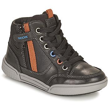 鞋子 男孩 高帮鞋 Geox 健乐士 POSEIDO 棕色
