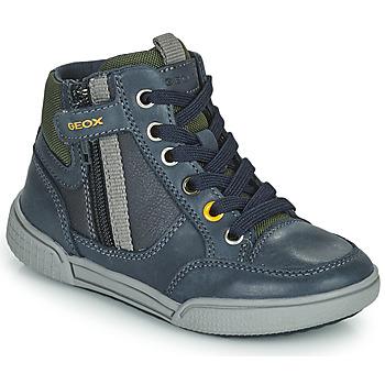 鞋子 男孩 高帮鞋 Geox 健乐士 POSEIDO 海蓝色 / 绿色