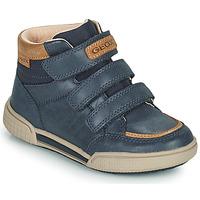 鞋子 男孩 高帮鞋 Geox 健乐士 POSEIDO 海蓝色